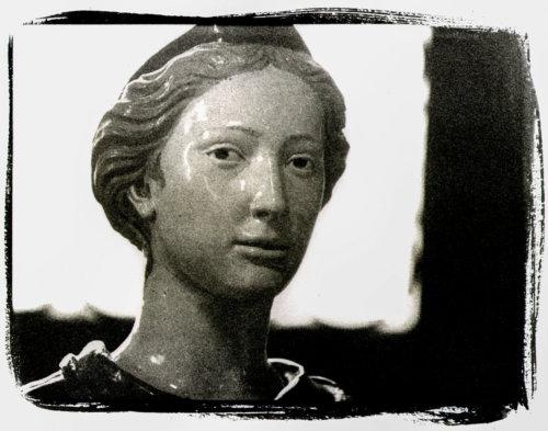 Ritratto, L. Della Robbia, Firenze Museo del Bargello (Platinotipia)